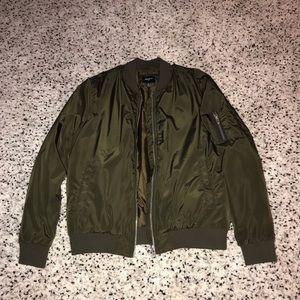 Olive green bomber. Jacket